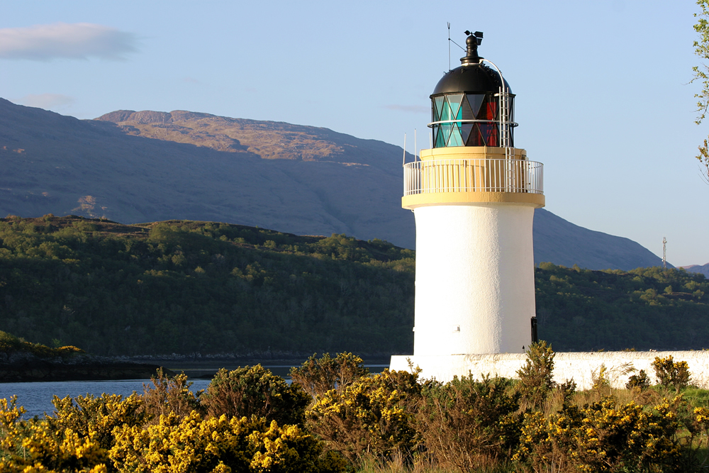 Corran Lighthouse by Ferry Ardnamurchan Scotland